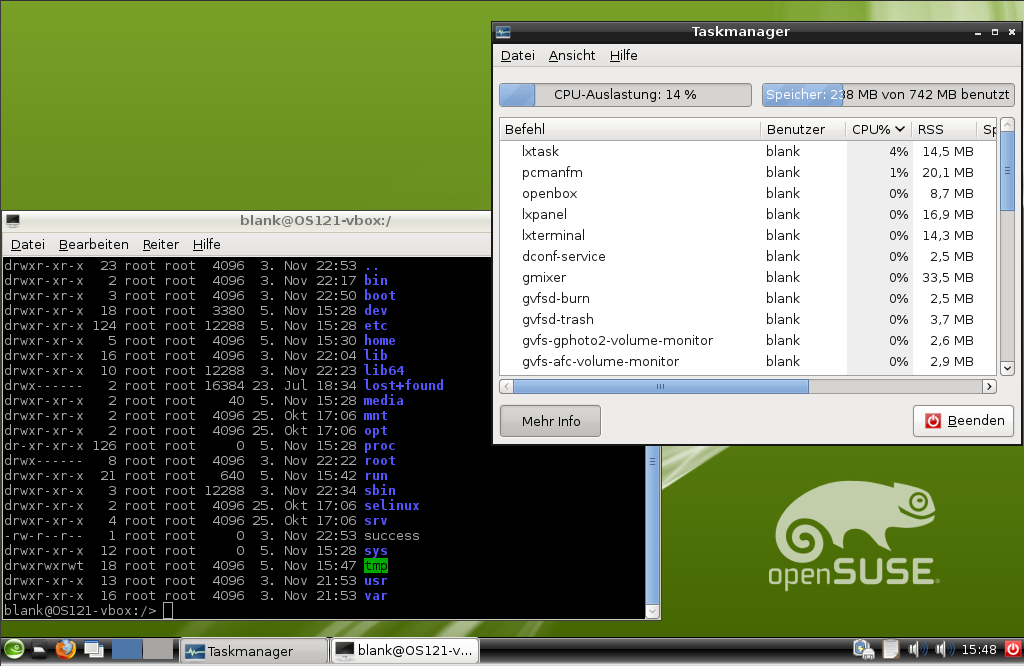 OpenSUSE 12.1 lxde terminal taskmanager.png
