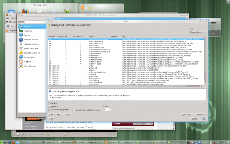 YaST managing repositories in openSUSE 11.4.